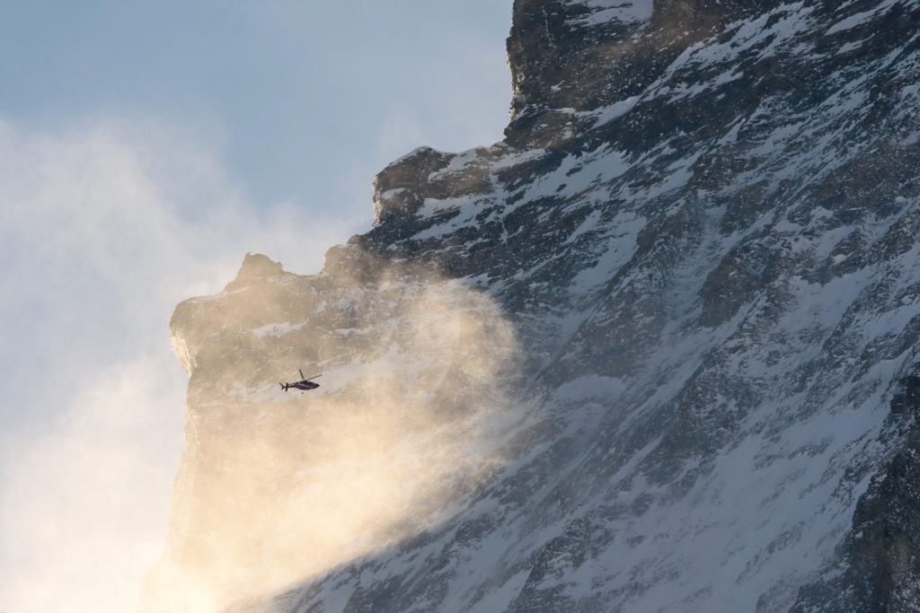 Rescue Helicopter at the Matterhorn
