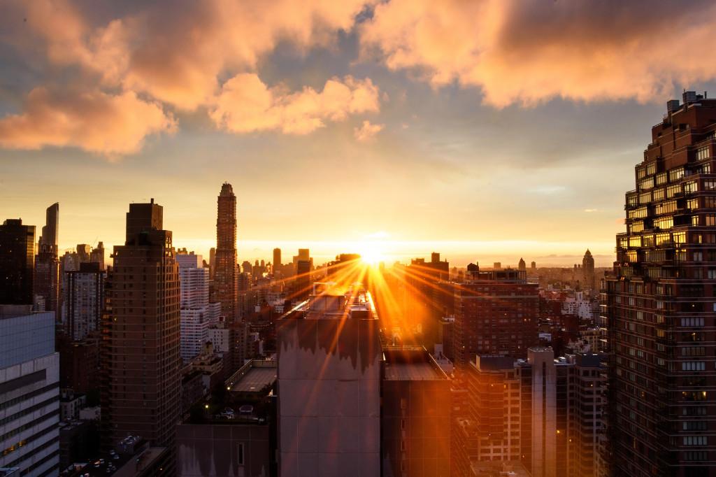 Sunset over Manhattan, New York City